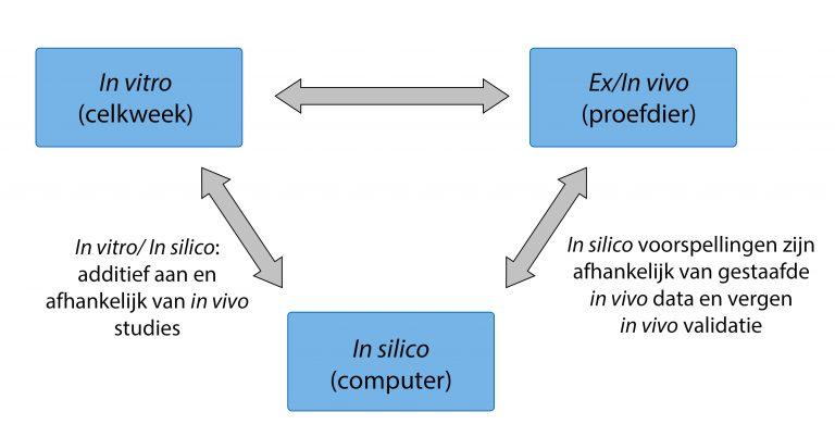 Driehoek alternatieven proefdieren